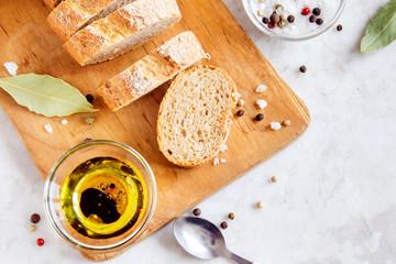 ciabatta bread with spicy olive oil
