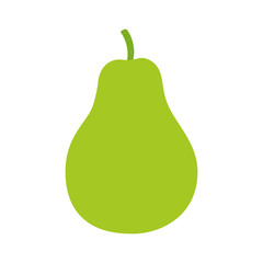 Pear / pyrus fruit flat color icon for food apps and websites
