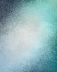 white and blue background, vintage grunge textured borders and sky blue color hue