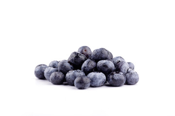 blueberries isolated in white