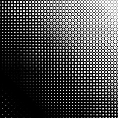 Background with gradient of black and white circles