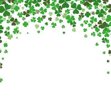 St. Patricks Day Shamrocks Background Cover