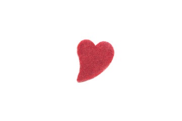 Small red textile heart