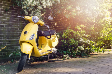 Scooter Yellow scooter parked