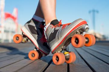 Roller skating outdoor