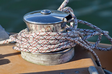 Capstan on a Sailboat - 2503