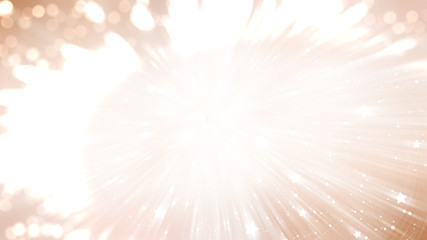 Abstract background holidays lights in motion blur brown image
