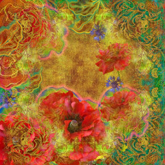 abstract motley floral design