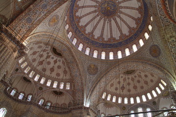 Vault of Sultan Ahmed Mosque, Istanbul, Turkey