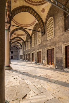 Sultan Ahmed Mosque court yard a popular tourists area