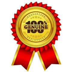 Genuine Guaranteed Red Seal Vector Icon
