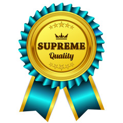Supreme Quality Blue Seal Vector Icon