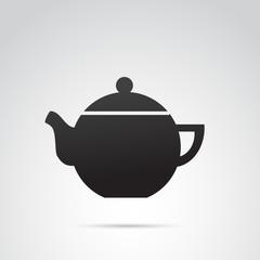 Teapot vector icon.
