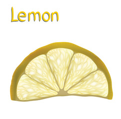 Lemon slice for your design