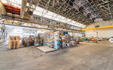 Steel coils warehouse