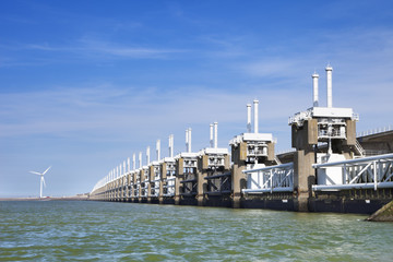 Eastern Scheldt storm barrier in Zeeland, The Netherlands