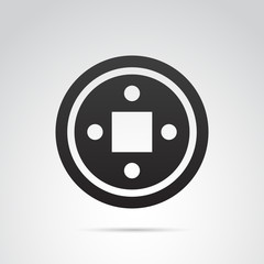 Asian gong vector icon.