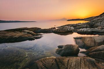 Sunrise in Greece, Halkidiki, Sykia - Europe