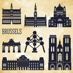 Brussels. Vector illustration