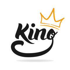 King logo template. Hand lettering