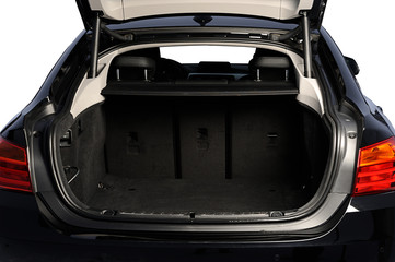 opened car empty trunk
