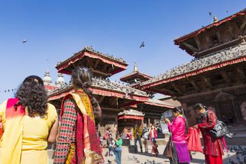 Photo sur Aluminium Népal KATHMANDU, NEPAL - FEBRUARY 10, 2015: The famous Durbar square o