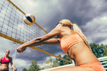 Beach volleyball detail