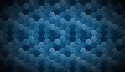 Extra Dark Cyanotype Tiled Background with Spotlight