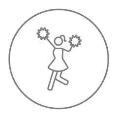 Cheerleader line icon.