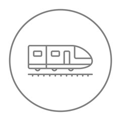 Modern high speed train line icon.