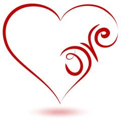cuore calligrafico