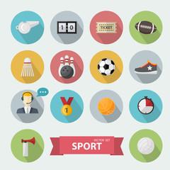 Sports icon flat