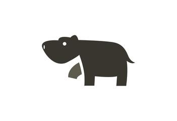 Hippo Logo Vector Illustration
