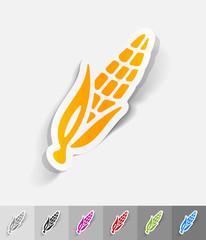 realistic design element. corn