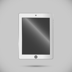 White digital tablet. electronics for your design