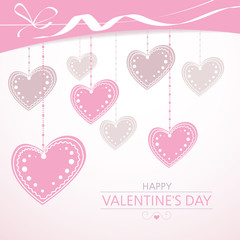 Valentine's background with pink hearts