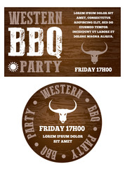 Western BBQ party invitation