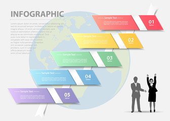 Abstract template infographic. can be used for workflow, layout, diagram