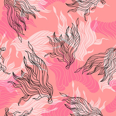 Cute beautiful abstract seamless pattern. Texture, textile, background