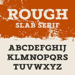 Grunge Slab Serif 001
