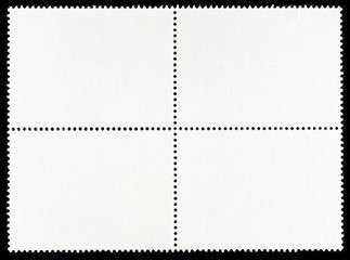 Blank Postage Stamps Block of Four