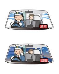 タクシーの運転