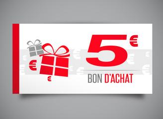 """Résultat de recherche d'images pour """"bon d'achat 5 euros"""""""
