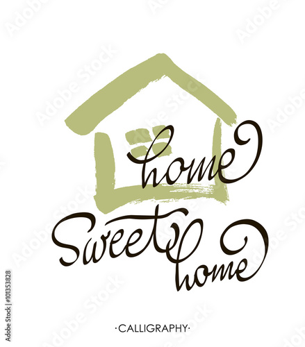 Hand Lettering Typography PosterCalligraphic Quote Home Sweet For Housewarming Posters Greeting