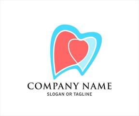 dental heart shape logo