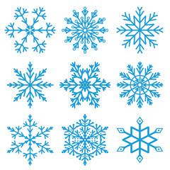 Set of snowflakes illustration