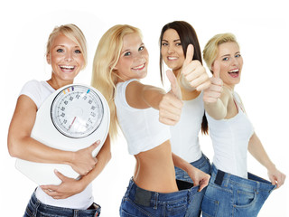 Beautiful girls are proud to lose weight