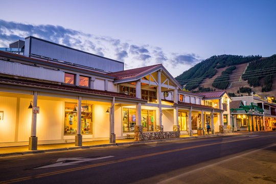 Downtown Jackson Hole in Wyoming USA
