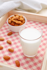 Almond milk in glass