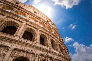 Poster de jardin Rome Great Colosseum in Rome